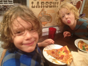 Jacob and Carl at Pizza Brain