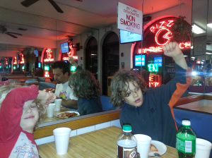 Jacob, Carl & Uncle Larry at Randazzo's