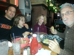 Jacob, Carl, Uncle Larry and Zayda at McGillin's