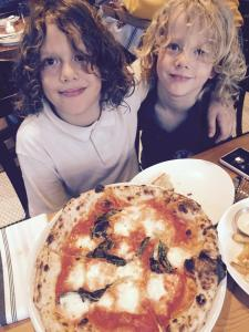 Jacob and Carl at Ardé Osteria & Pizzeria