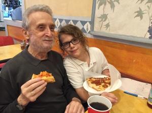 Jacob and Zayda at Joe's Pizza